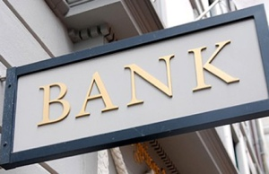 A photo of a bank sign