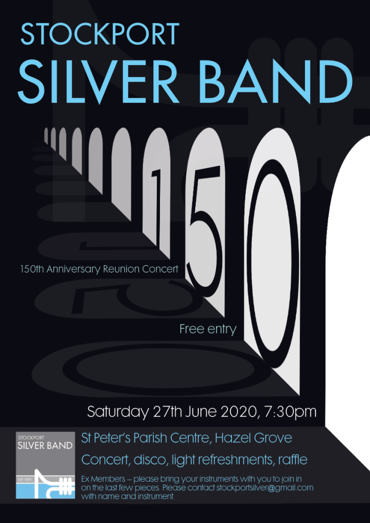 Stockport Silver Band 150 Poster